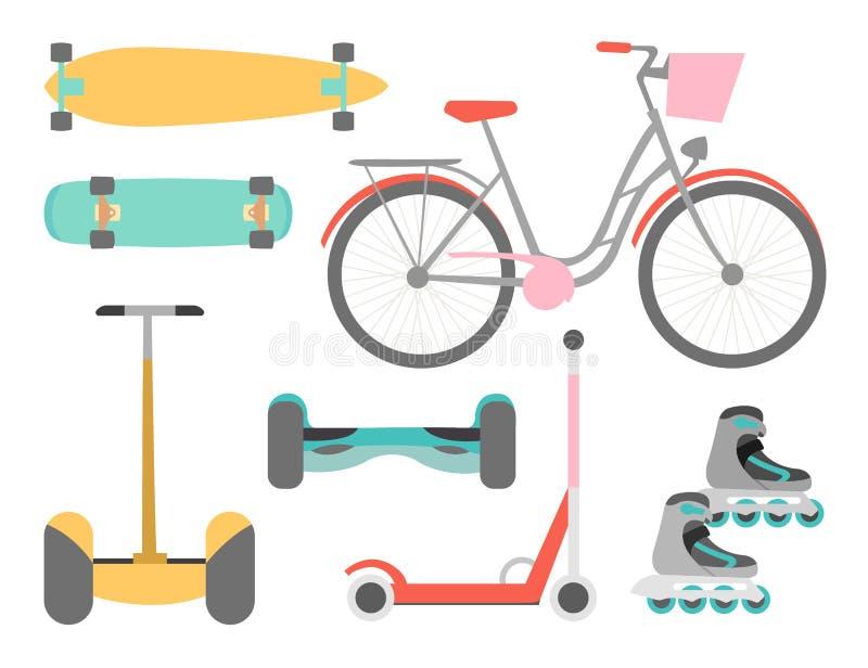 Uppsättning för kommunikationsmedelvektorsymboler vektor illustrationer