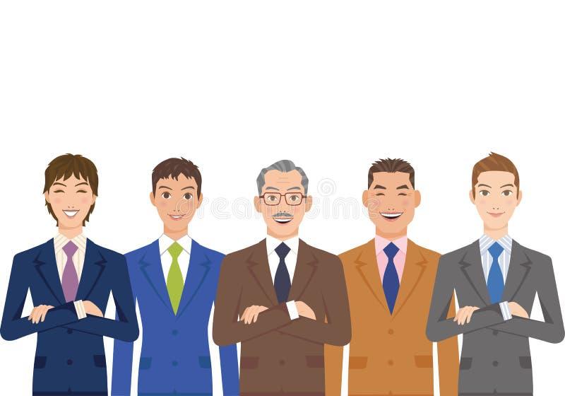 Uppsättning för kontorsarbetare av mannen royaltyfri illustrationer