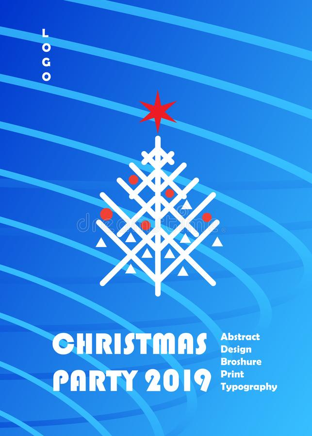 Uppsättning för KORT för garnering för lyx för händelse för 2019 för vinterferie jul för lyckligt nytt år guld- vektor illustrationer