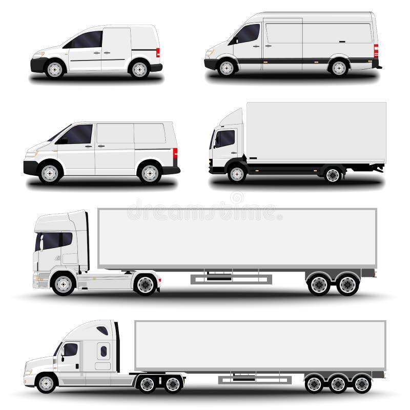 Uppsättning för lastmedel vektor illustrationer