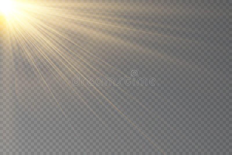 Uppsättning för ljus effekt för vektor för glöd genomskinlig stock illustrationer