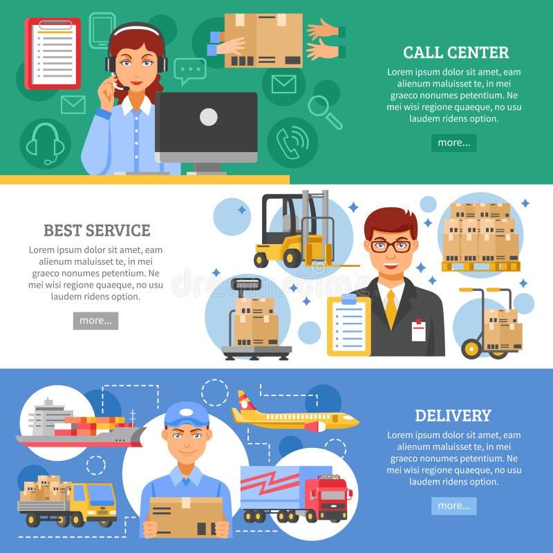 Uppsättning för logistikleveransbaner vektor illustrationer