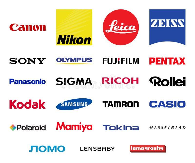 Uppsättning för logoer för vektorfotografiföretag vektor illustrationer