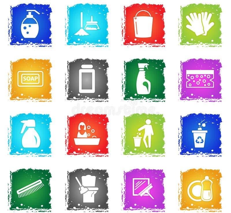 Uppsättning för lokalvårdföretagssymbol vektor illustrationer