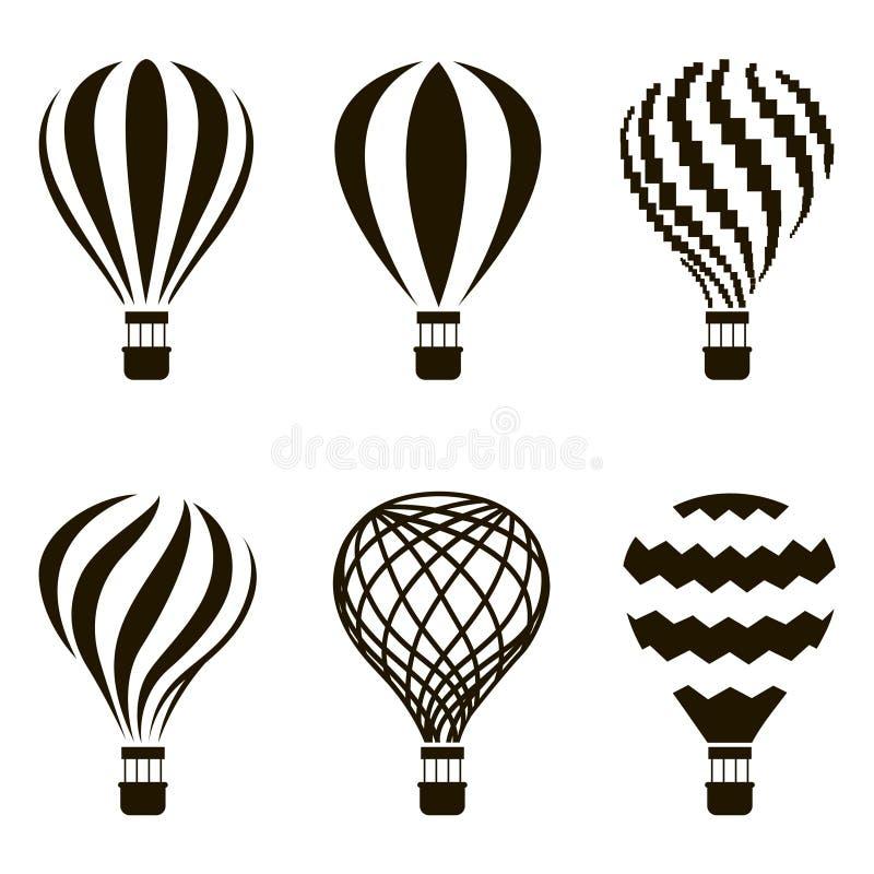 Uppsättning för luftballong royaltyfri illustrationer
