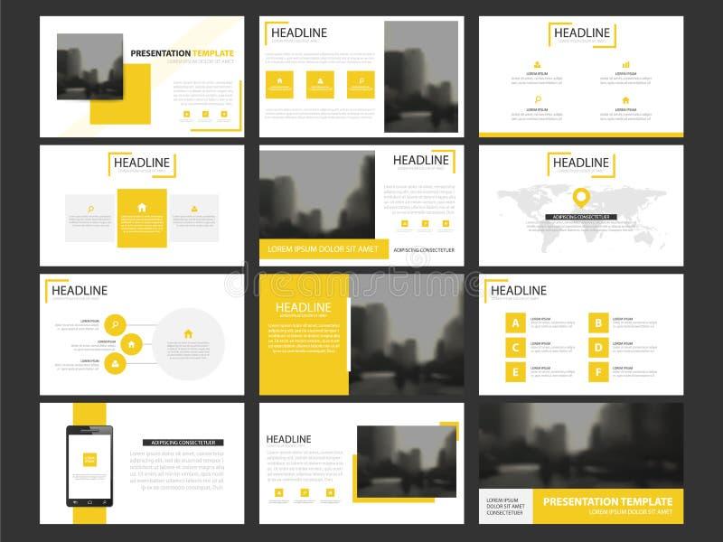Uppsättning för mall för beståndsdelar för affärspresentation infographic, årsrapport vektor illustrationer