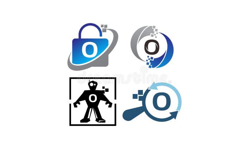 Uppsättning för mall för teknologiapplikationnolla royaltyfri illustrationer