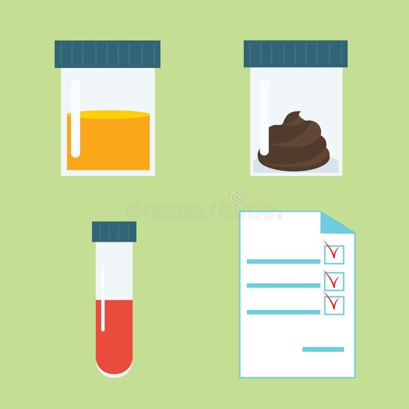 Uppsättning för medicinska prov royaltyfri illustrationer