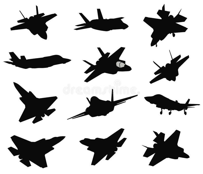 Uppsättning för 12 militära flygplan