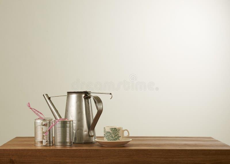 Uppsättning för Nanyang stilkaffe royaltyfri bild