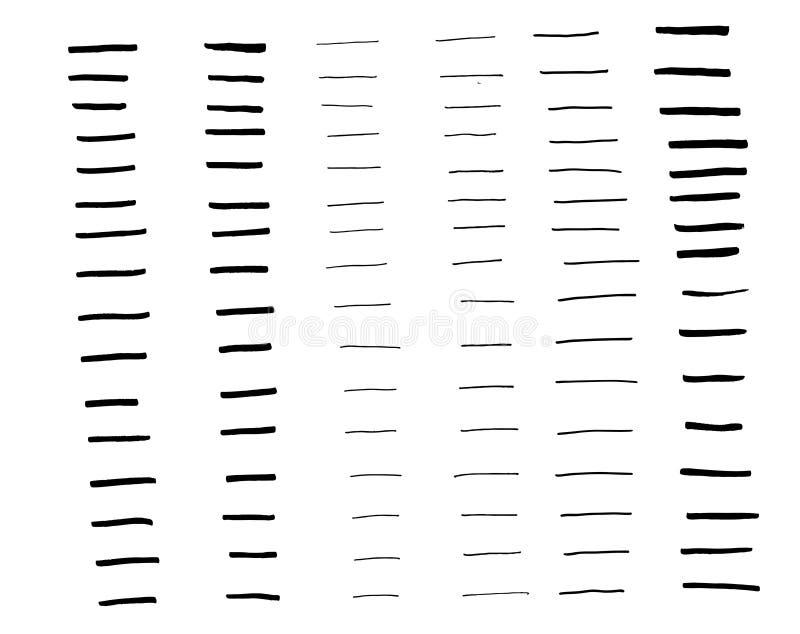 Uppsättning för objekt för samlingskonstborste 96 vektor illustrationer
