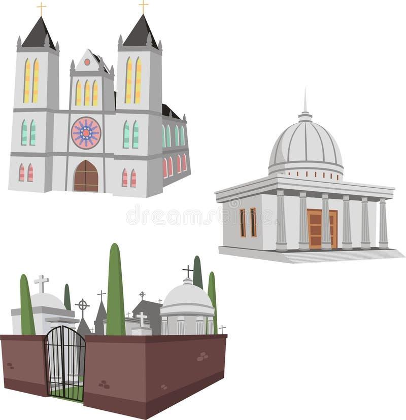 Uppsättning 6 för offentlig byggnad royaltyfri illustrationer