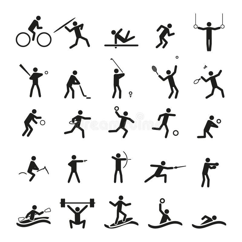 Uppsättning för sportsymbolsvektor royaltyfri illustrationer