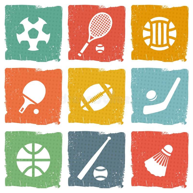 Download Uppsättning För Sporttemasymbol Vektor Illustrationer - Illustration av cirkel, modernt: 37347761
