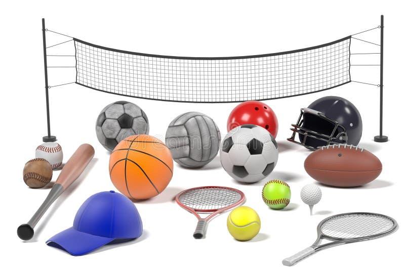 Uppsättning för sportutrustning vektor illustrationer