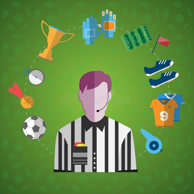 Uppsättning för symbol för fotbolllek stor färgrik royaltyfri illustrationer
