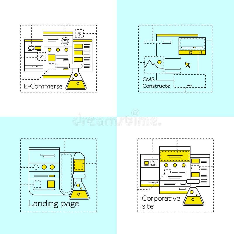 Uppsättning för symbol för rengöringsdukdesign stock illustrationer