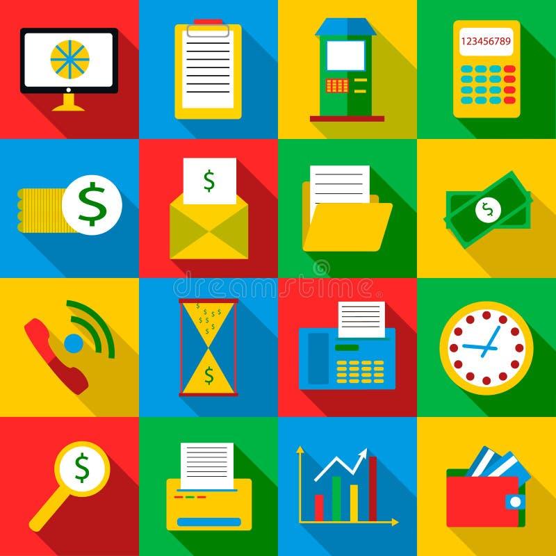 Uppsättning för symboler för affärsnivåer, lägenhetstil stock illustrationer