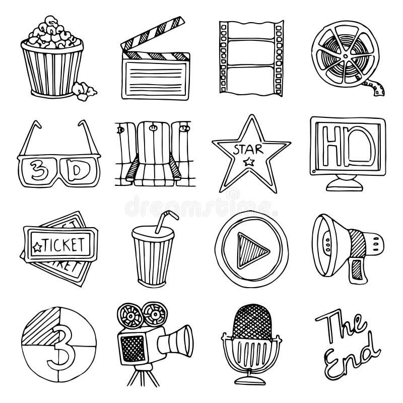 Uppsättning för symboler för biofilmtappning vektor illustrationer