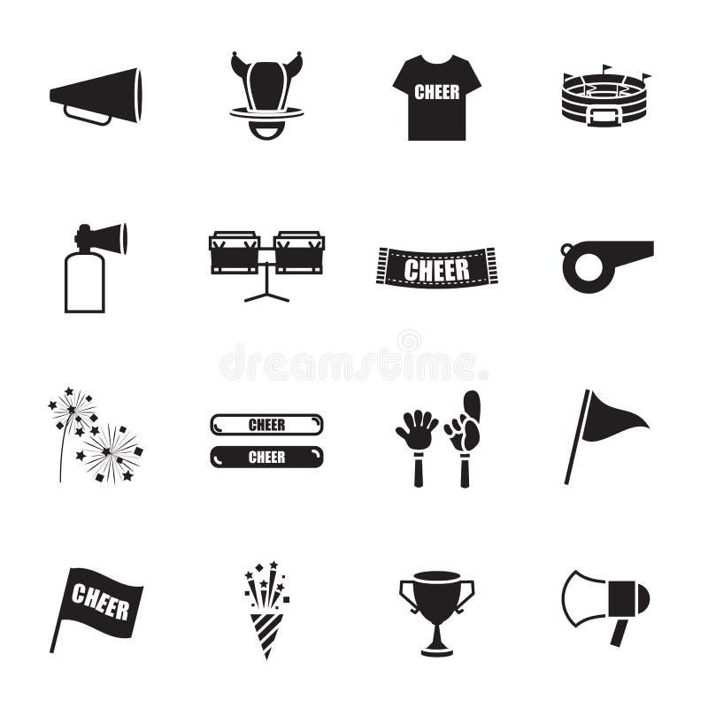 Uppsättning för symboler för jubelutrustningsportar vektor illustrationer