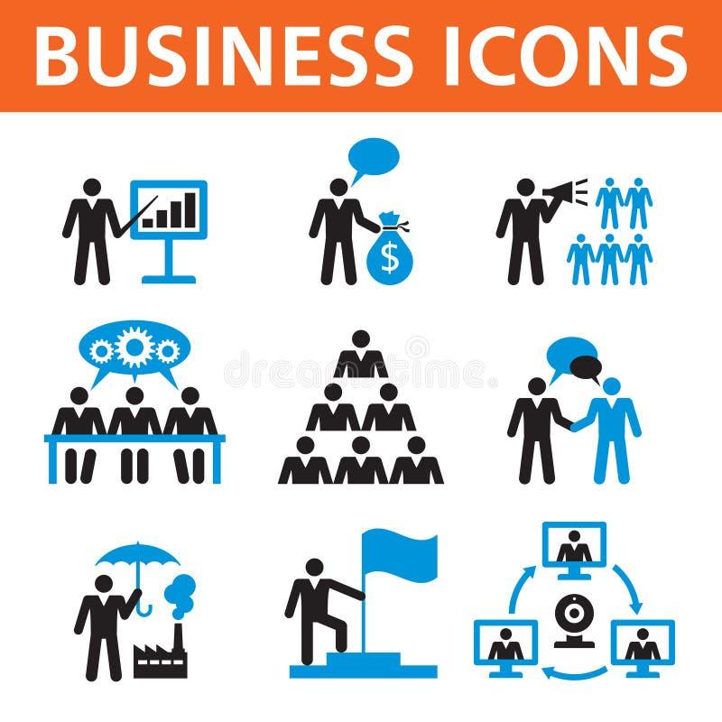 Uppsättning för symboler för vektor för affärsfolk royaltyfri illustrationer