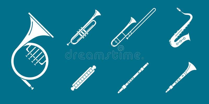 Uppsättning 06 för symboler för musikinstrument arkivbilder