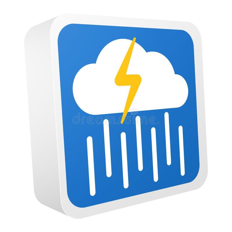 uppsättning för symboler för vektor för prognos för väder 3d royaltyfri illustrationer