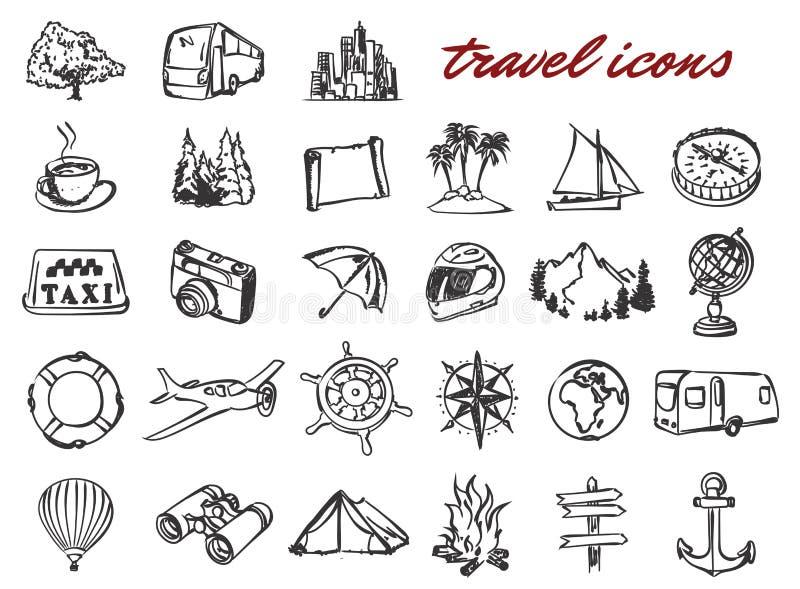 Uppsättning för symboler för vektorklotterlopp stock illustrationer