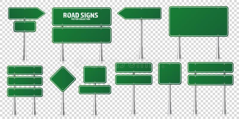 Uppsättning för tecken för väggräsplantrafik Tomt br?de med st?llet f?r text Modell Isolerat informationstecken riktning vektor royaltyfri illustrationer