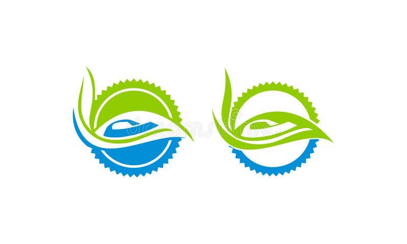 Uppsättning för torrt rengöringsmedel för Eco tvätteri stock illustrationer