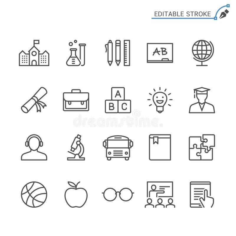 Uppsättning för utbildningsöversiktssymbol royaltyfri illustrationer