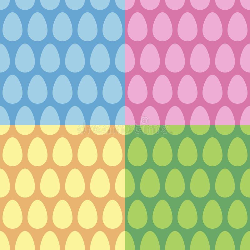 Uppsättning för vektor för modell för påskägg sömlös royaltyfri illustrationer