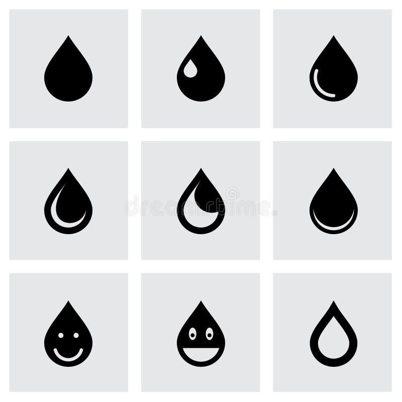 Uppsättning för vektordroppsymbol stock illustrationer