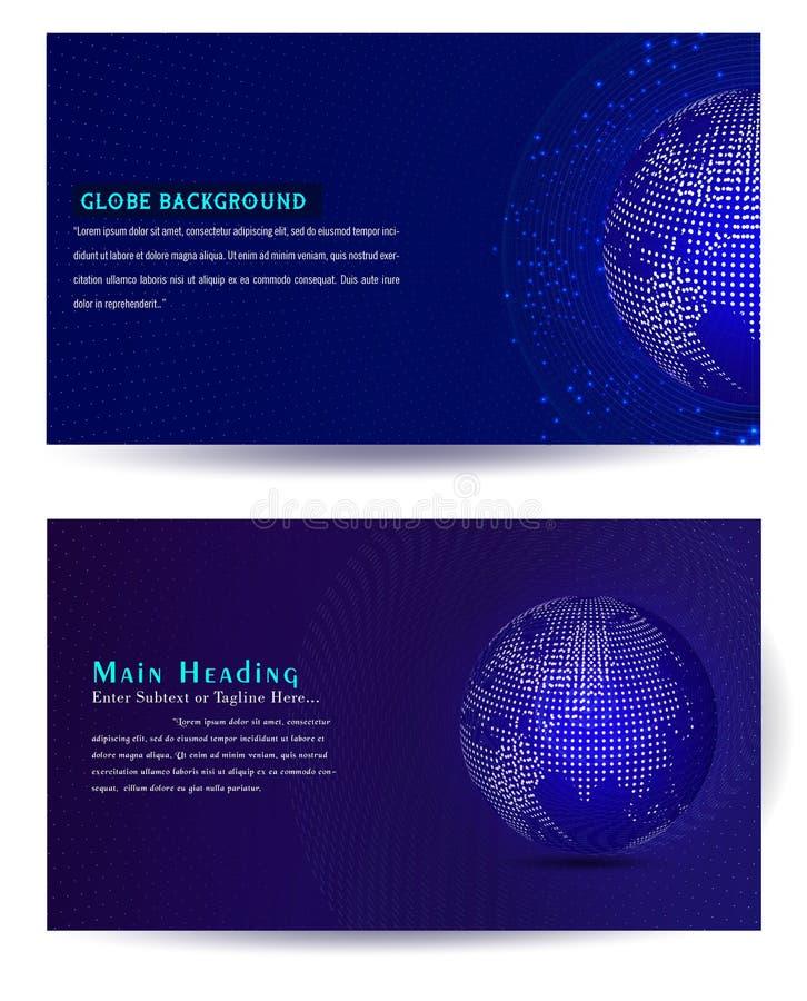 Uppsättningar av bakgrund för anslutning för globalt nätverk royaltyfri illustrationer