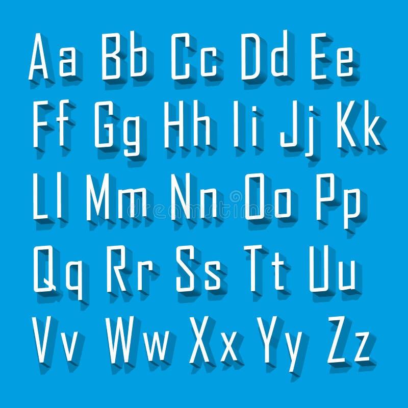 Uppsättningbokstav för stilsort 3d royaltyfri illustrationer