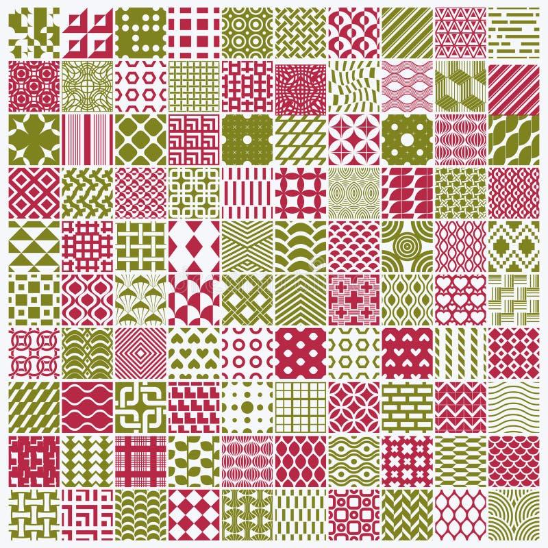 Uppsättningen av ändlösa geometriska modeller för vektor komponerade med olikt stock illustrationer