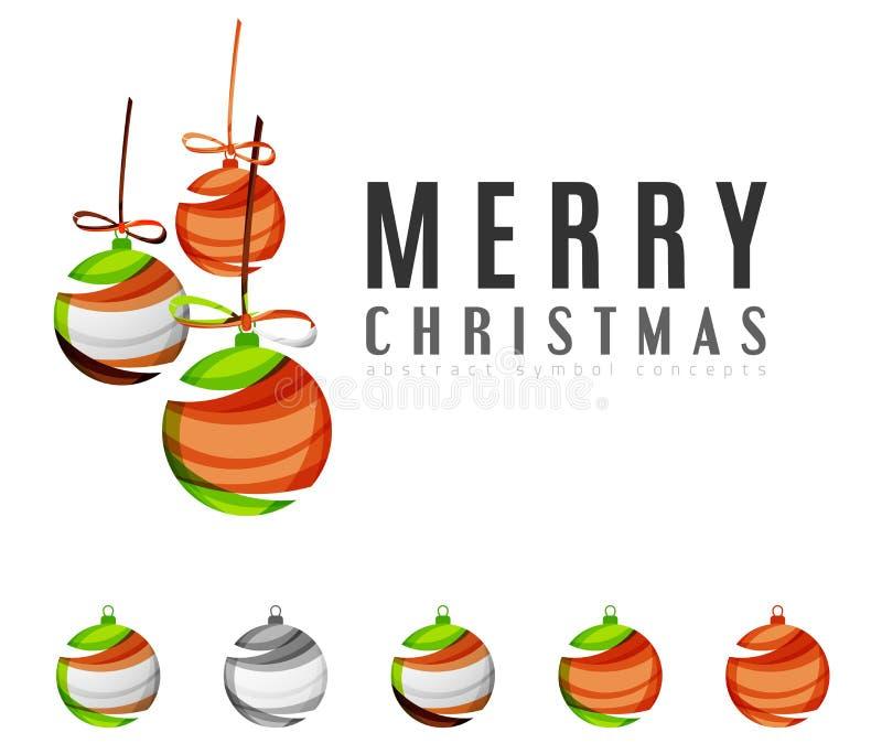 Uppsättningen av abstrakt jul klumpa ihop sig symboler, affär royaltyfri illustrationer