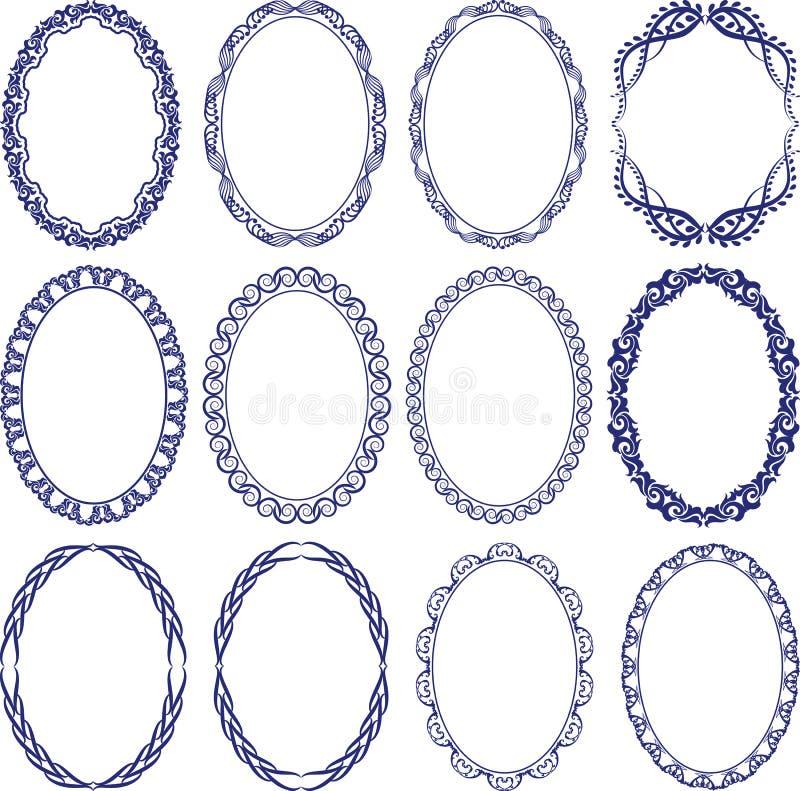 Ovalen Gränsar Royaltyfri Fotografi