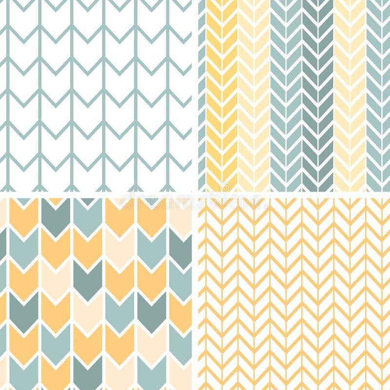 Uppsättningen av fyra grå färger gulnar sparremodeller och royaltyfri illustrationer
