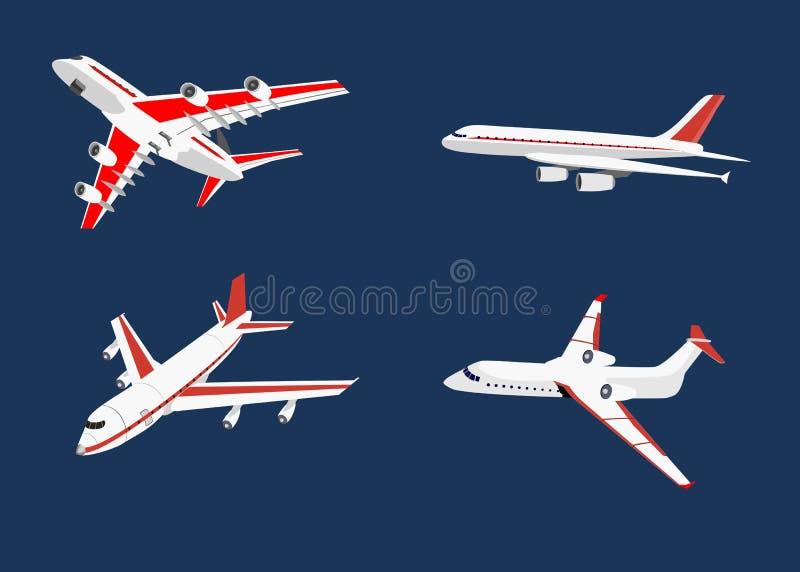 Uppsättningen av luftnivåer isolerade vektorillustrationen royaltyfri illustrationer