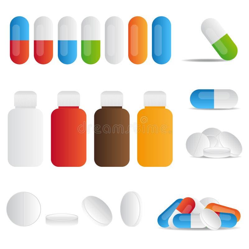 Pills stock illustrationer