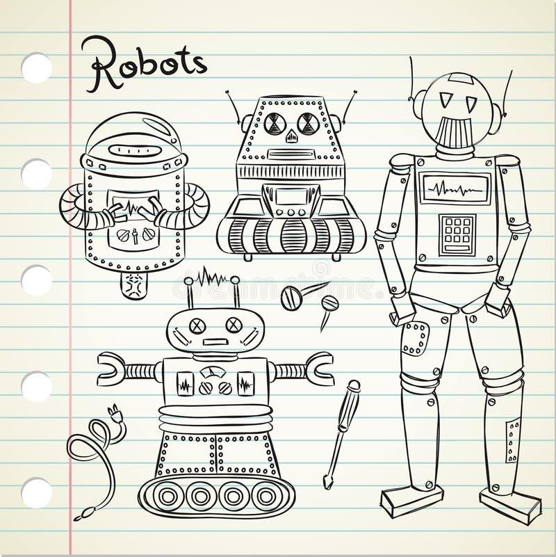 Tappningrobot vektor illustrationer
