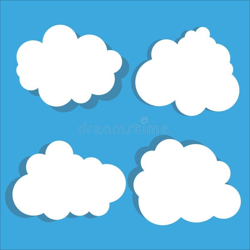 Upps?ttning f?r molnvektorsymbol vektor illustrationer