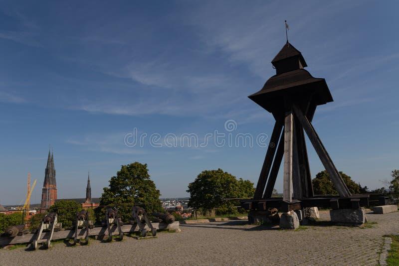 Uppsala Castle Observation Deck - 16th Century Royal Castle Palace. Uppsala. Sweden 08.2019 stock photo