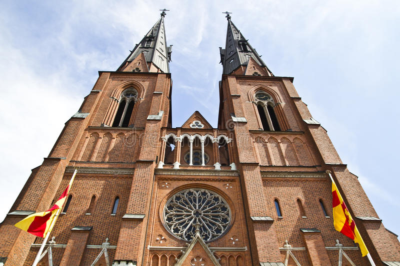 Uppsala cathedral royalty free stock photo