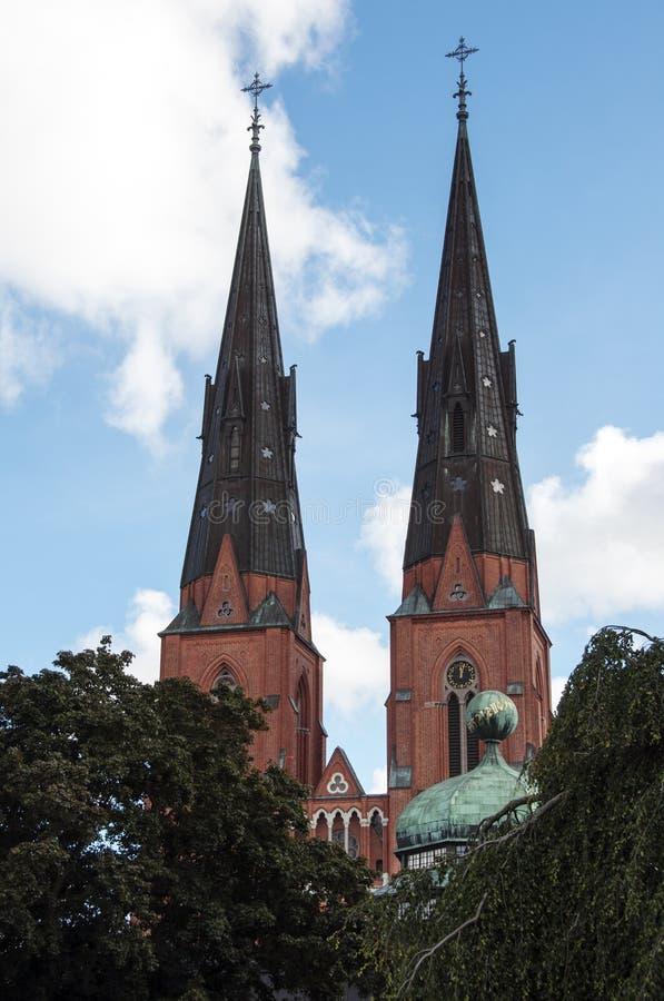 Uppsala domkyrka royaltyfri foto