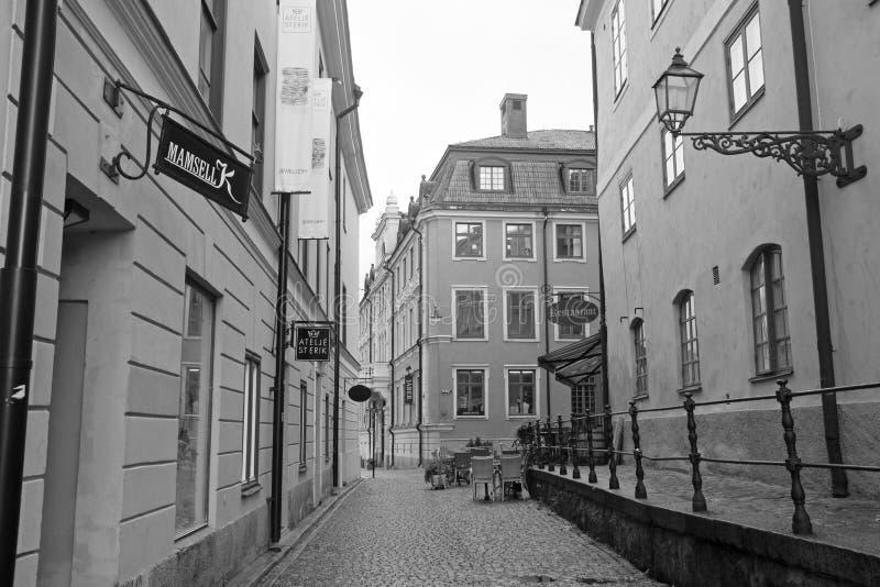 Uppsala i stadens centrum gata arkivfoton