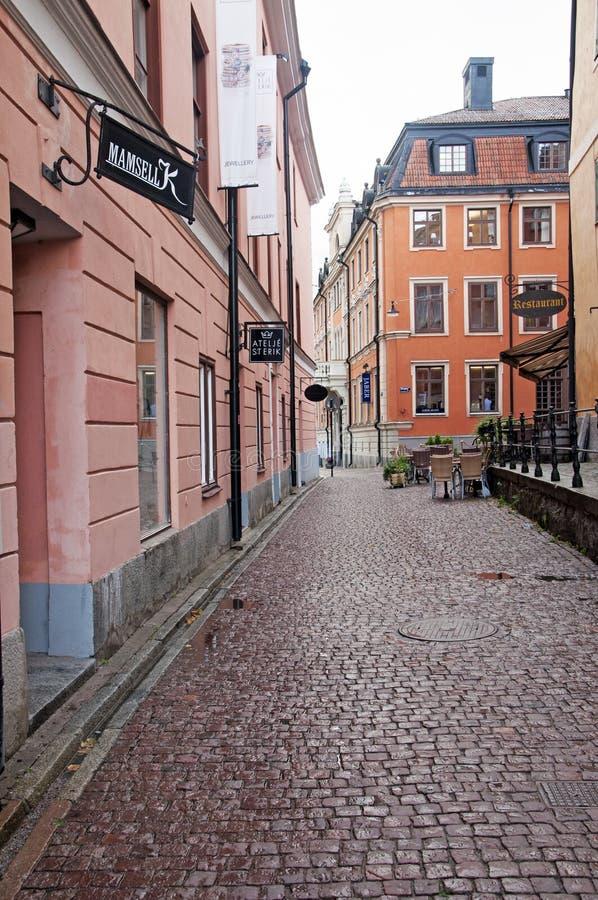 Uppsala i stadens centrum gata arkivbilder