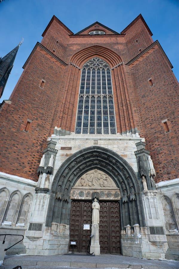 Uppsala-Kathedrale stockfotografie