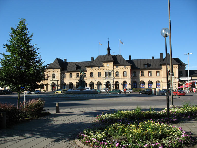 Uppsala's railway station royalty free stock photo